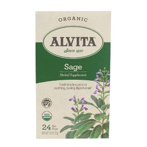 Alvita Organic Sage Herbal Tea -...