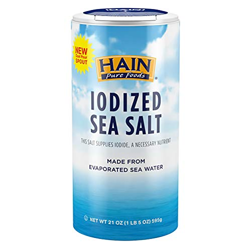 Hain Pure Foods Iodized Sea Salt,...