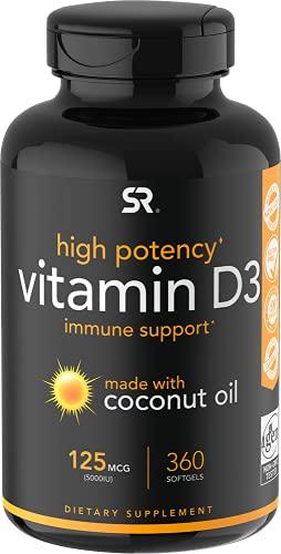 Vitamin D3 5000iu (125mcg) with...
