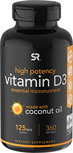 Vitamin D3 5000iu (125mcg) with...