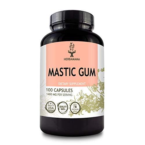 HERBAMAMA Mastic Gum Capsules -...