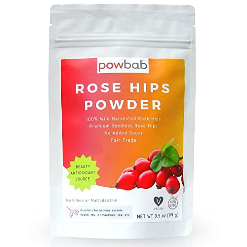 powbab Rose Hips Powder from 100%...