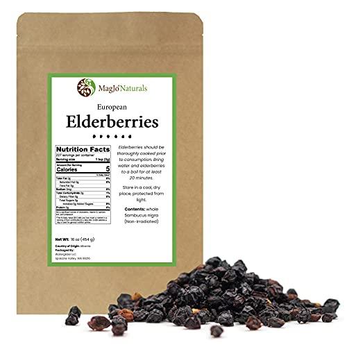 Elder Berry whole, dried (1 pound)