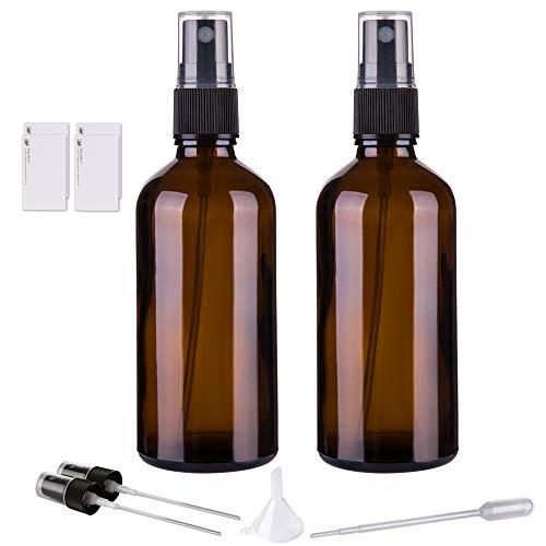 Amber Glass Spray Bottles for...