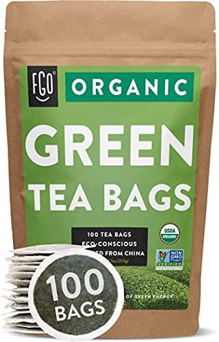 Organic Green Tea Bags | 100 Tea...