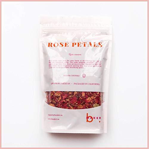 bMAKER Dried Rose Buds& Petals Red...