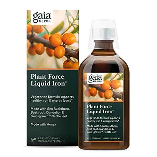 Gaia Herbs PlantForce Liquid Iron...
