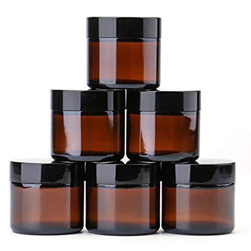 2 oz Round Glass Jars (6 Pack) -...