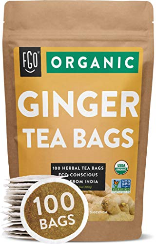Organic Ginger Tea Bags | 100 Tea...