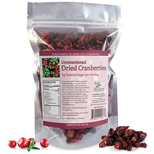 Unsweetened Dried Cranberries, No...