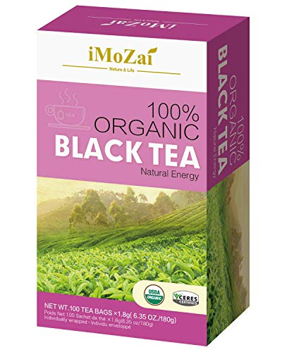 Imozai Organic Black Tea Bags 100...