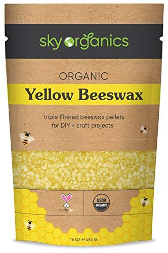 Organic Yellow Beeswax Pellets...
