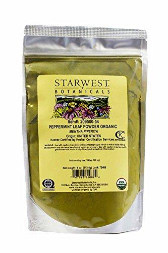 Peppermint Leaf Powder Organic - 4...