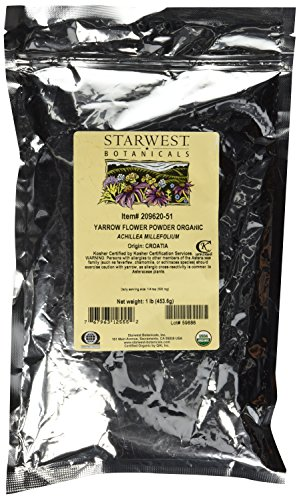 Organic Yarrow Flower Powder, 1 lb...