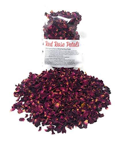 Red Rose Petals - Pure, edible &...