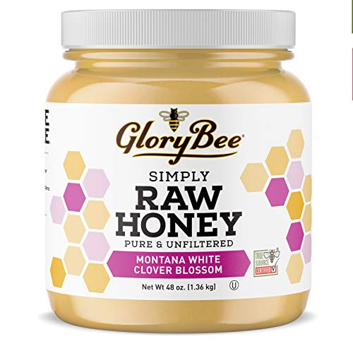 GloryBee, Raw Montana White Clover...