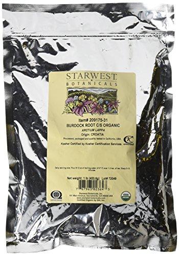 Organic Burdock Root C/S 1lb