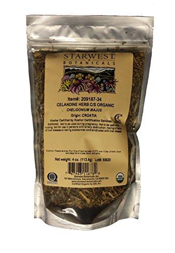 Organic Celandine Herb C/S, 4oz, 4...