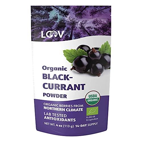 LOOV Organic Blackcurrant Powder,...