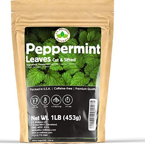Peppermint Tea 1LB (16Oz), Cut &...