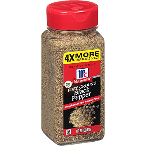 McCormick Pure Ground Black Pepper,...