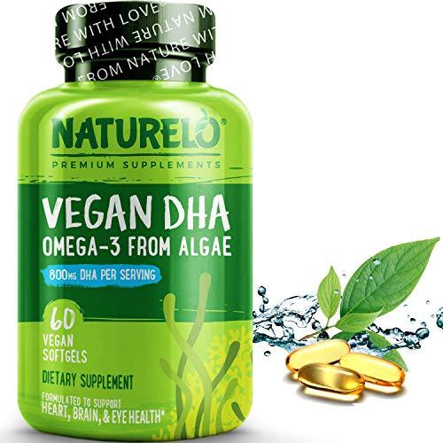 NATURELO Vegan DHA - Omega 3 Oil...