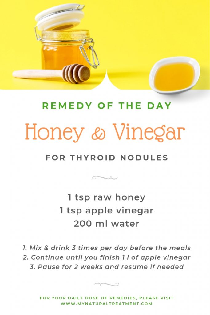 Honey & Vinegar for Thyroid Nodules - Home Remedy