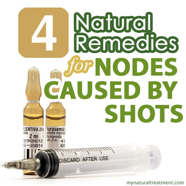 4 Natural Remedies for Nodes Caused by Shots