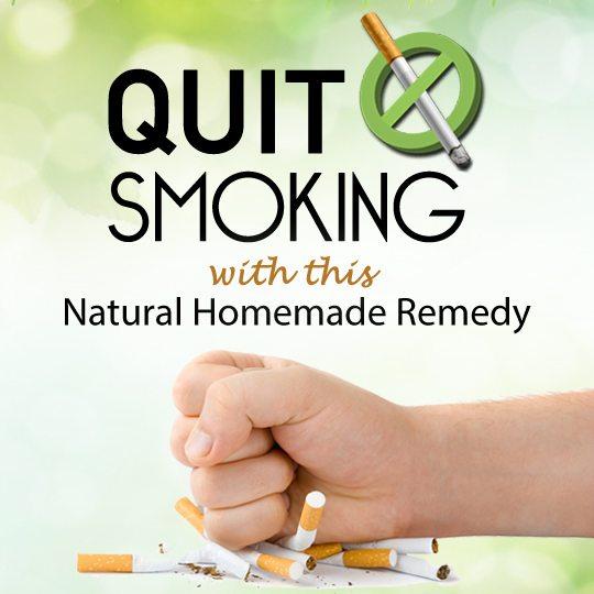 quit smoking homemade remedy