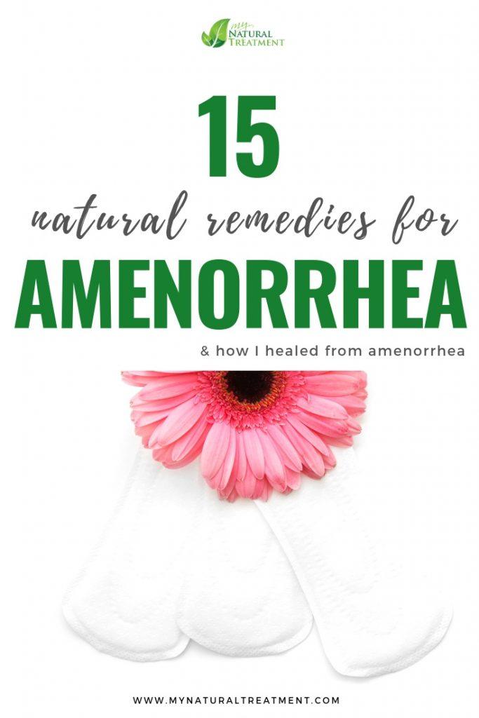 Amenorrhea Remedies that Work #amenorrhea
