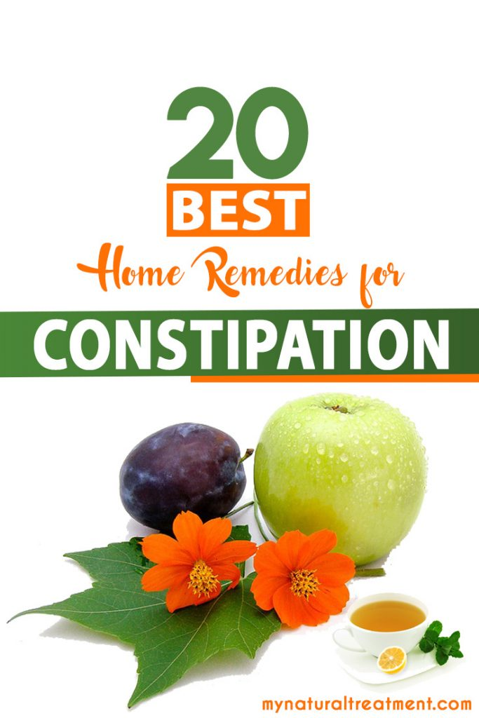 Top 20 Best Home Remedies for Constipation with Recioes, natural laxatives, tips as well as diet recommendations for constipation.