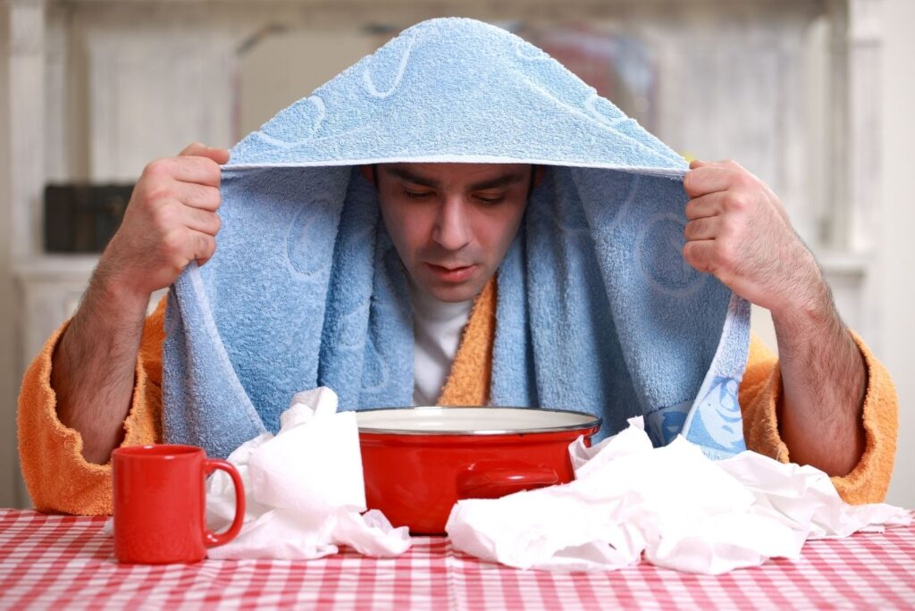 8 Simple Home Remedies for Viral Sinus Infection (Sinusitis) - Steam Inhalation