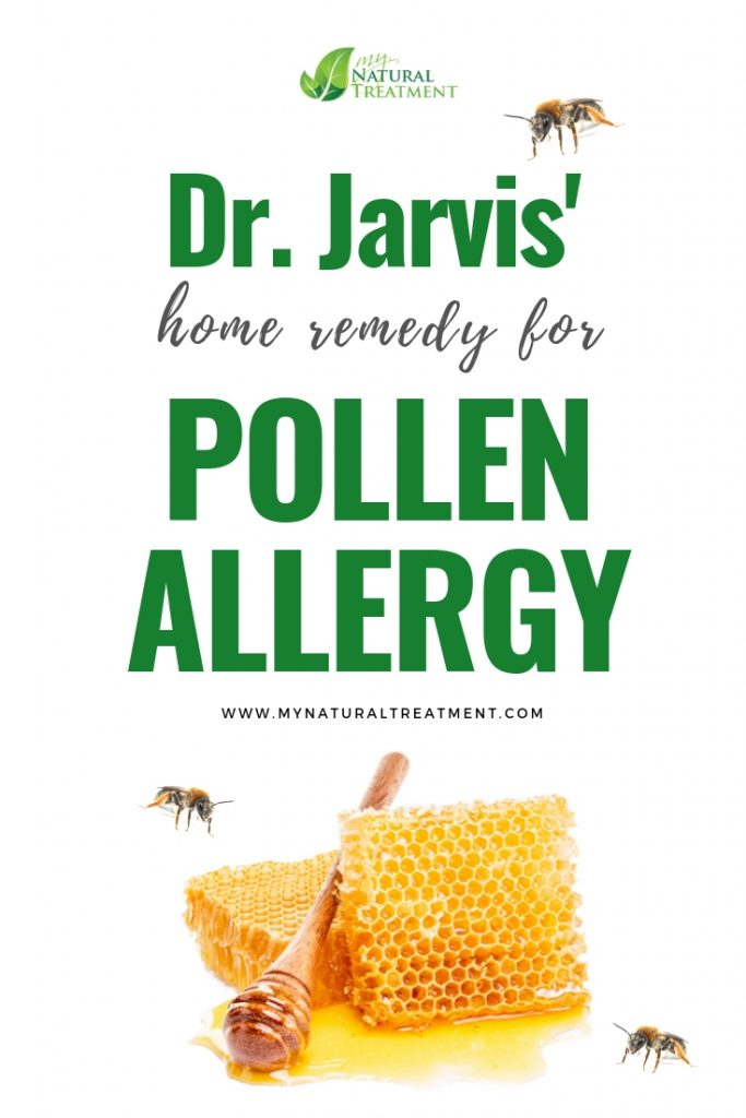 Dr. Jarvis's Home Remedy for Pollen Allergy with Honeycomb Caps