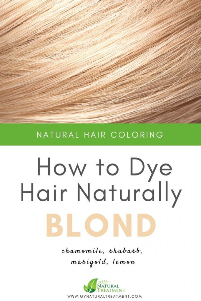 How to Dye Hair Naturally Blonde with Herbs