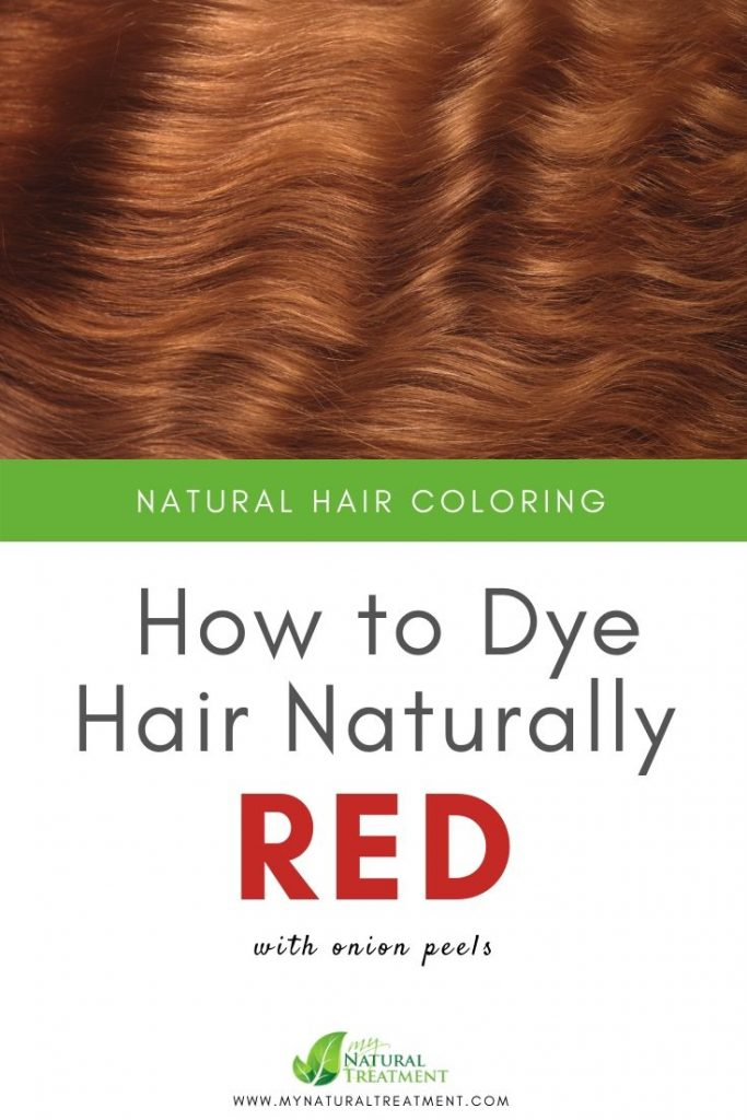 How to Dye Hair Naturally Red with Onion Peels