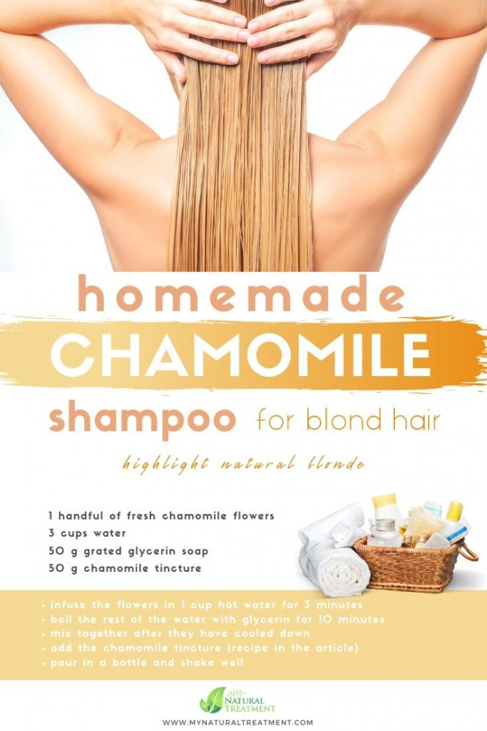 DIY Natural Chamomile Shampoo for Blond Hair