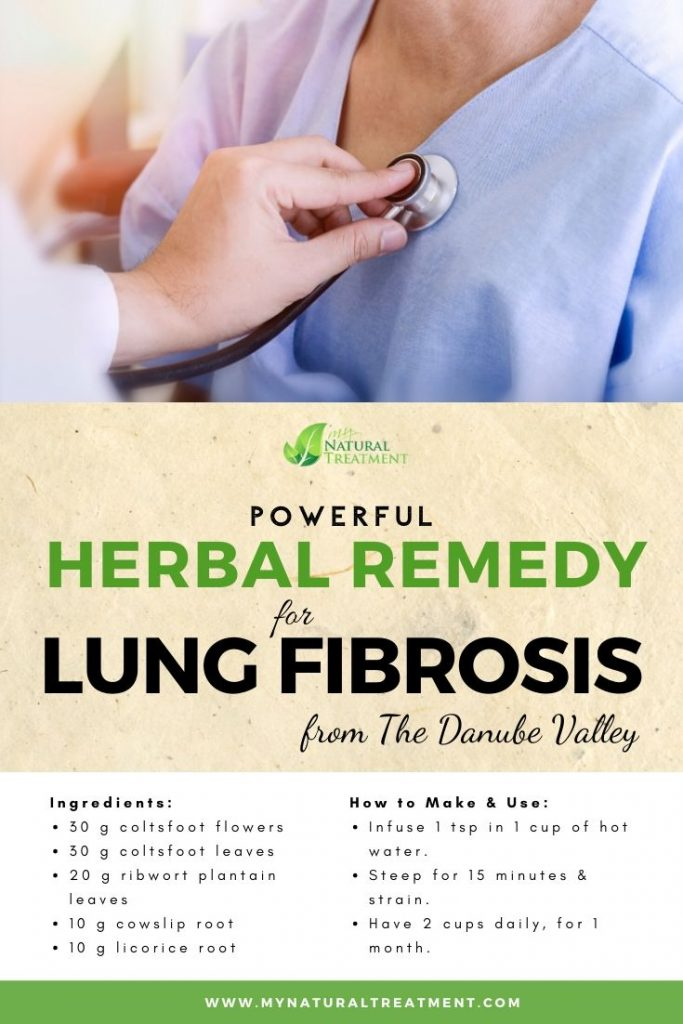 Powerful Herbal Remedy for Lung Fibrosis with recipe and instructions.